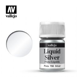 PEINTURE VALLEJO -  SILVER -  LIQUID GOLD 70790