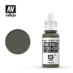 PEINTURE VALLEJO -  US DARK GREEN -  MODEL COLOR 70893