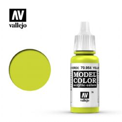 PEINTURE VALLEJO -  YELLOW GREEN -  MODEL COLOR 70954