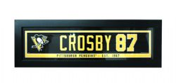 PENGUINS DE PITTSBURGH -  CADRE SYDNEY CROSBY #87 (14.5 CM X 56 CM)