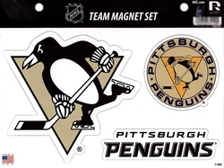 PENGUINS DE PITTSBURGH -  ENSEMBLE D'AIMANTS