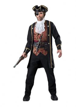 PIRATES -  COSTUME DE CAPITAINE PIRATE (ADULTE)