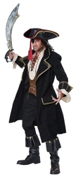 PIRATES -  COSTUME DE CAPITAINE PIRATE DELUXE (ADULTE)