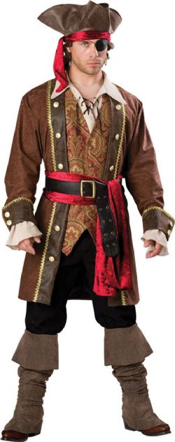 PIRATES -  COSTUME DE CAPITAINE SKULLDUGGERY (ADULTE)