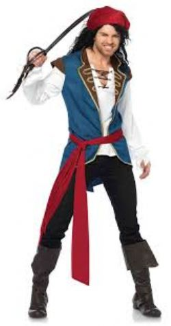 PIRATES -  COSTUME DE PIRATE VAURIEN (ADULTE)