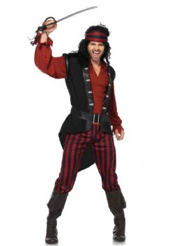 PIRATES -  COSTUME DE VIL CAPITAINE (ADULTE)