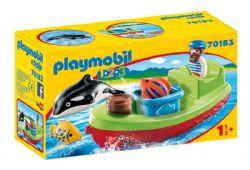 PLAYMOBIL -  BATEAU ET PÊCHEUR 70183
