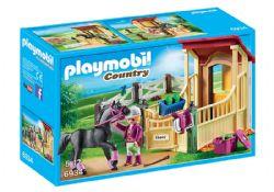PLAYMOBIL -  BOX AVEC CAVALIÈRE ET PUR-SANG ARABE 6934