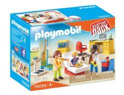 PLAYMOBIL -  CABINET DU PÉDIATRE (33 PIÈCES) -  STARTER PACK 70034