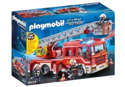 PLAYMOBIL -  CAMION DE POMPIERS AVEC ÉCHELLE PIVOTANTE 9463