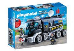 PLAYMOBIL -  CAMION DES POLICIERS D'ELITE AVEC SIRENE ET GYROPHARE 9360