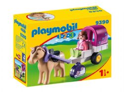 PLAYMOBIL -  CARRIOLE AVEC CHEVAL 9390