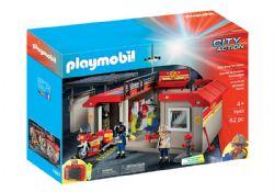 PLAYMOBIL -  CASERNE DE POMPIERS TRANSPORTABLE (62 PIÈCES) 5663