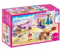 PLAYMOBIL -  CHAMBRE AVEC ESPACE COUTURE 70208