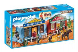 PLAYMOBIL -  COFFRET DU FAR WEST TRANSPORTABLE (97 PIÈCES) 70012
