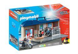 PLAYMOBIL -  COMMISSARIAT DE POLICE TRANSPORTABLE (69 PIÈCES) 5689