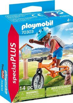 PLAYMOBIL -  CYCLISTE AVEC MARMOTTE (14 PIÈCES) 70303