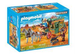 PLAYMOBIL -  DILIGENCE DU FAR WEST (73 PIÈCES) 70013