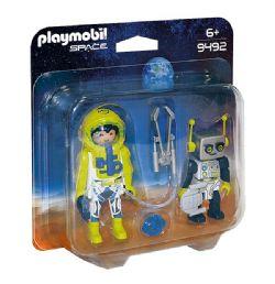 PLAYMOBIL -  DUO SPATIONAUTE ET ROBOT 9492