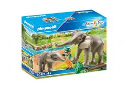 PLAYMOBIL -  ELEPHANT HABITAT (17 PIÈCES) 70324