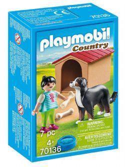 PLAYMOBIL -  ENFANT AVEC CHIEN (7 PIÈCES) 70136