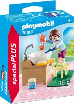 PLAYMOBIL -  ENFANT AVEC LAVABO (15 PIÈCES) 70301