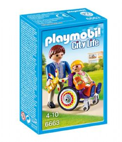 PLAYMOBIL -  ENFANT ET FAUTEUIL ROULANT 6663