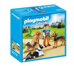 PLAYMOBIL -  ENTRAINEUR ET CHIENS 9279