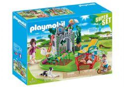 PLAYMOBIL -  FAMILLE ET UN JARDIN (67 PIÈCES) -  SUPERSET 70010