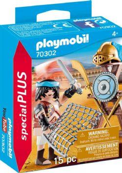 PLAYMOBIL -  GLADIATEUR AVEC ARMES (15 PIÈCES) 70302