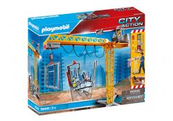 PLAYMOBIL -  GRUE RADIO-COMMANDÉE AVEC MUR DE CONSTRUCTION (80 PIÈCES)  70441