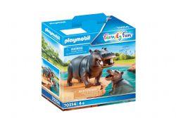 PLAYMOBIL -  HIPPOPOTAME ET SON PETIT (2 PIÈCES) 70354