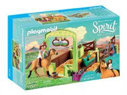 PLAYMOBIL -  LUCKY ET SPIRIT AVEC BOX (57 PIÈCES) 9478