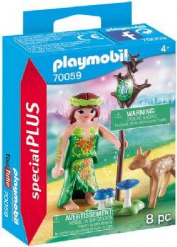 PLAYMOBIL -  NYMPHE ET FAON (8 PIÈCES) 70059