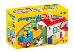PLAYMOBIL -  OUVRIER AVEC CAMION ET GARAGE 70184
