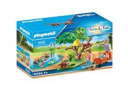 PLAYMOBIL -  PANDA ROUX AVEC ENFANTS (55 PIÈCES) 70344