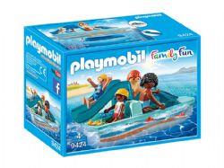 PLAYMOBIL -  PEDALO AVEC 4 PERSONNAGES 9424