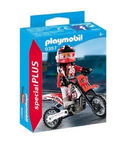PLAYMOBIL -  PILOTE DE MOTOCROSS 9357