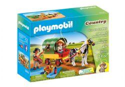 PLAYMOBIL -  PIQUE-NIQUE ET CHARIOT AVEC PONEY (34 PIÈCES) 5686