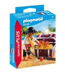 PLAYMOBIL -  PIRATE AVEC COFFRE AU TRESOR 9358