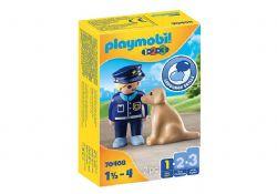 PLAYMOBIL -  POLICIER AVEC CHIEN 70408
