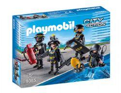 PLAYMOBIL -  POLICIERS D'ÉLITE 9365