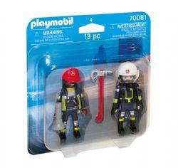 PLAYMOBIL -  POMPIERS SECOURISTES (13 PIÈCES) 70081