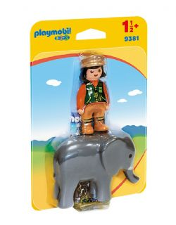 PLAYMOBIL -  SOIGNEUR AVEC ÉLÉPHANTEAU 9381