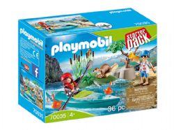 PLAYMOBIL -  SPORTIFS ET KAYAK (36 PIÈCES) -  STARTER PACK 70035