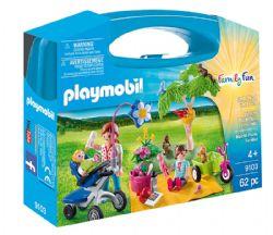PLAYMOBIL -  VALISETTE PIQUE-NIQUE EN FAMILLE (62 PIÈCES) 9103