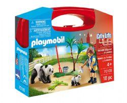 PLAYMOBIL -  VALISETTE SOIGNEUR ET PANDAS (18 PIÈCES) 70105