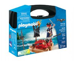 PLAYMOBIL -  VALISETTE TRANSPORTABLE DE PIRATES (22 PIÈCES) 5655