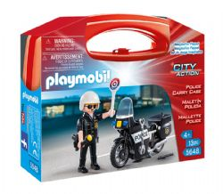 PLAYMOBIL -  VALISETTE TRANSPORTABLE DE POLICE (13 PIÈCES) 5648