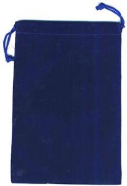 POCHETTE -  POCHETTE EN TISSU BLEUE (15 CM X 22 CM)
